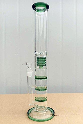 2016 grün Glas Bong Best Percolator Öl Rigs 3 Wabe und Birdcage Erzeugung Trad. Wasserpfeifen 18,8 mm Gelenk Recycler Glas Wasser Rohre