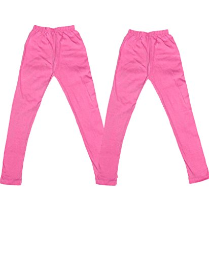 IndiWeaves Super Soft Pure Cottton Pink Leggings for Little Girls(Pack of 2)_3-5 Years  available at amazon for Rs.249