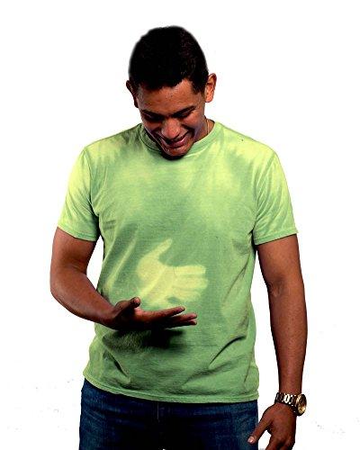 Shadow Shifter ERWACHSENE Männer / Unisex Farbwechsel T-Shirt Hitzeempfindlich, Bright Green, M Mens Dress Shirt Blush