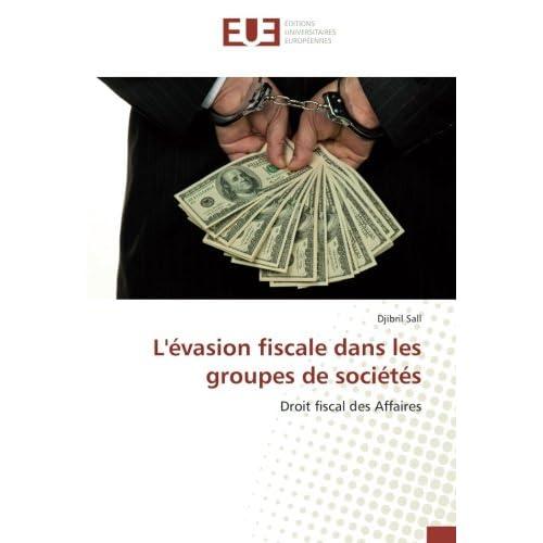 L'evasion fiscale dans les groupes de societes: Droit fiscal des Affaires
