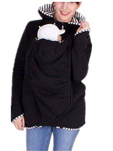 AILIENT Damen Maternity Kapuzenpullover Kind in der Tasche Langarmshirt Stillshirt Umstandsshirt Stilltop Langarm Schwangere Sweatshirts Hoodie Umstandstop