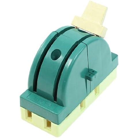 sourcingmap® AC 250V 32A 2 Poli Doppio Gettare Circuito Controllo Coltello Scollegare Interruttore Verde