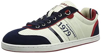 KangaROOS Joel 7441A Unisex-Erwachsene Sneaker, Weiß (off white/dk navy/k red 047), EU 41