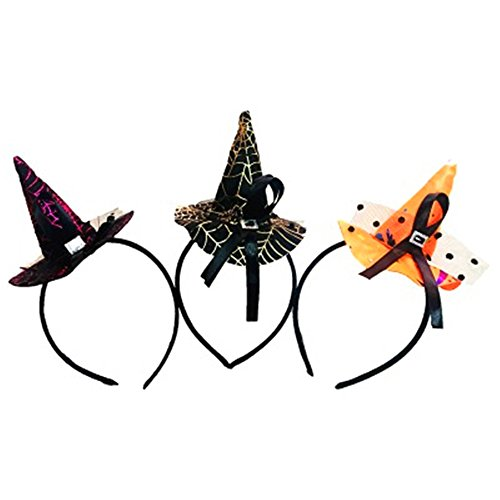 Halloween Video Ideen Spiel Kostüme (AAAHOMEEU 5Pcs Halloween-Partei-Stützen Hexe-Hut)