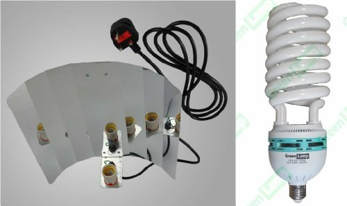 Green Lamp Reflektor, flügelförmig+ 1 Paar Yoyo-Aufhängevorrichtungen + 125W 5500K CFL Wachstums-Lampe