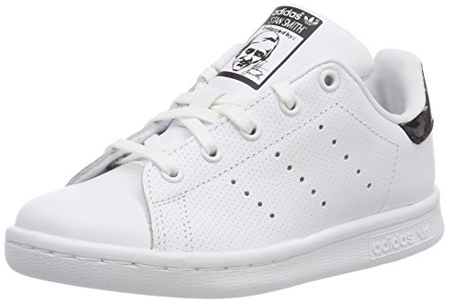 super popular 2d84b 8552c adidas Stan Smith C, Scarpe da Ginnastica Basse Unisex-Bambini, Bianco  Footwear White Core Black, 34 EU