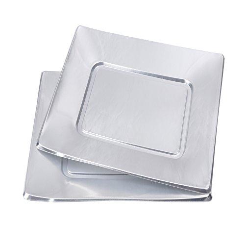 Viphome 6Teller quadratisch 23cm Silber