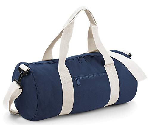 Bagbase - Sac de voyage (20 litres) (Taille unique) (Bleu marine/Blanc cassé)