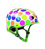 Micro Helm Scooterhelm Fahrradhelm für Kinder neon Punkte Variante S