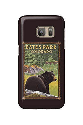 Estes Park, Colorado - Black Bear in Forest (Galaxy S7 Cell Phone Case, Slim Barely There) -