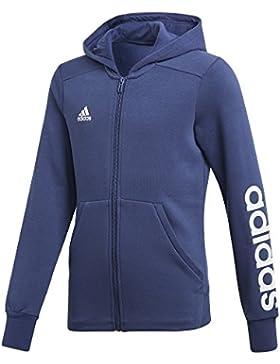 Adidas ragazza Essentials 3strisce Full Zip con cappuccio, Bambina, Essentials Mid 3-Streifen Full-Zip, Noble...