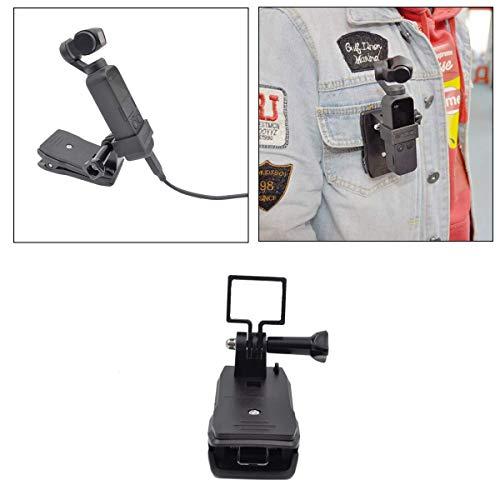 elegantstunning Pocket Handheld Stand Expansion Zubehör Halterung mit Rucksackclip für D-JI O-SMO Pocket Gimbal Kamera Stabilisatorhalter