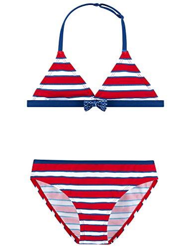 Schiesser Mädchen Badebekleidungsset Neckholder-Bikini, (Rot 500), 164