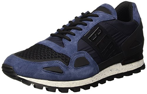 Bikkembergs Fend-Er 739 Shoe M Nylon/Nabuk, Scarpe Low-Top Uomo, Blu, 43 EU