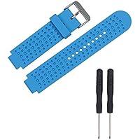 Conquro Pulsera Reloj Banda Correa de muñeca Hombre Herramienta de Funcionamiento para Garmin Forerunner 25 (Azul Cielo)