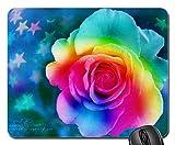 (Präzision gesäumt) Mauspad Gaming Mauspad Rainbow Rose Mauspad, Mousepad (Rose Mouse Pad)