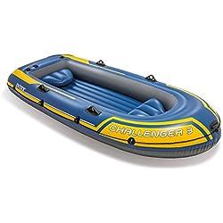 Intex - Barca hinchable Challenger 3 y remos aluminio - 295 x 137 x 43 cm (68370) (modelo variable según imagen)