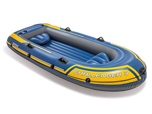 Intex 68370, set canotto challenger, giallo/blu, 295 x 137 x 43 cm, 3 persone