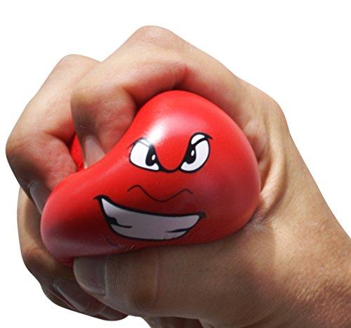 Antistress-Bälle, 3er-Set Wutball, Handtrainer, Knetball, Fingergymnastik-Ball, Stressbewältigung