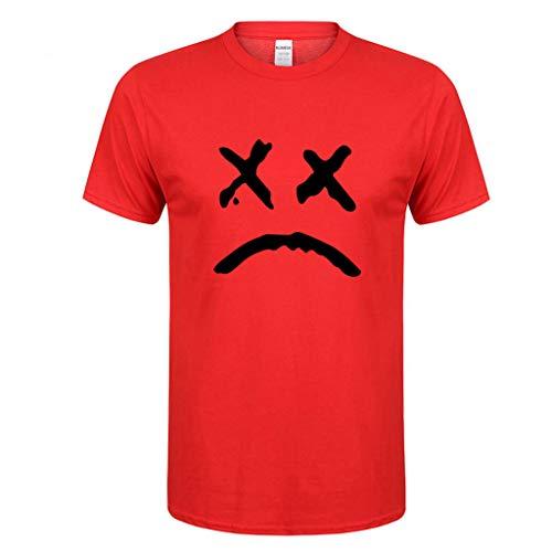 Liebespaar Tops,SANFASHION Damen Herren Frühling Sommer Lässige Mode Druck Oansatz Kurzarm Baumwolle T-Shirt Valentinstag Fuer ihn/sie