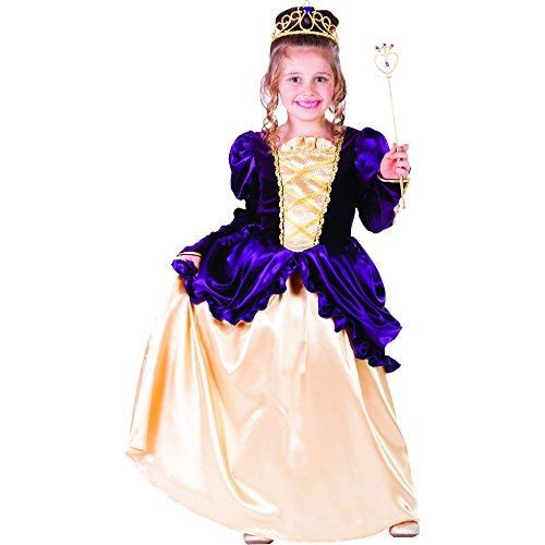 Belle Kostüm Goldenen Ballkleid - Dress Up America Kleines Mädchen Lila Belle Ballkleid