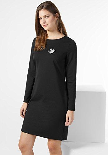 Street One Damen Schlichtes Jerseykleid Fita Schwarz (Black)