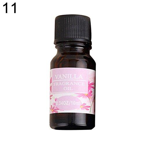 Kuizhiren1 10 ml Aromatherapie Duftöl ätherisches Öl 10 ml natürliche Wasserlöslichkeit reines ätherisches Öl therapeutische Pflanze aromatisch, Vanilla -