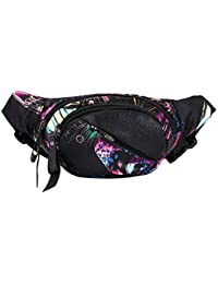 LQZ Women Men Waterproof Sports Waist Pack Bag For Running Hiking Cycling
