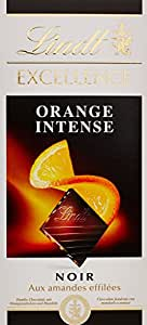 Lindt  Noir aux Amandes Effilées Orange Intense la Tablette 100g