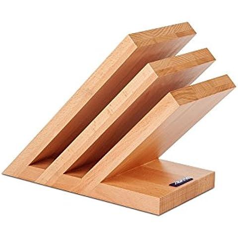 Arcos, Blocco portacoltelli magnetico, in legno di faggio - Arco Di Blocco