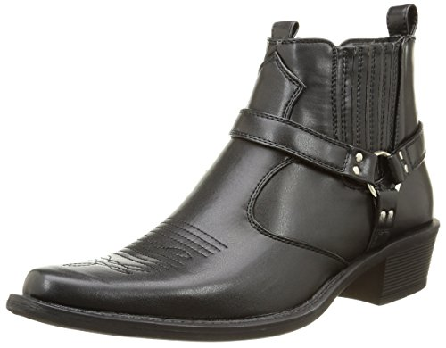 Us Brass Eastwood Botas Vaquero, Color Negro, Talla 43 EU / 9 UK