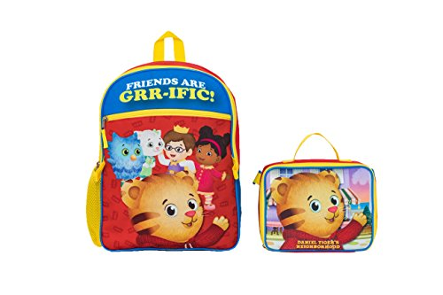 The Fred Rogers Company Rucksack mit Rucksack Daniel Tiger, rot (Rot) - TX30916