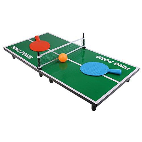 a07d85b44 Homyl Mini Juego de Mesa de Ping Pong Juguete para Niños Regalo de Navidad  2 Raquetas