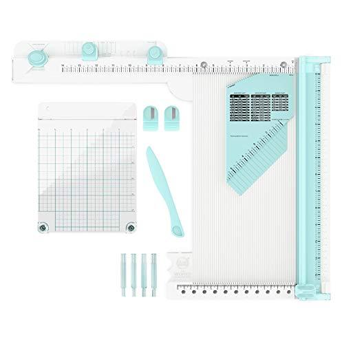 We R Memory Keepers The Works All-In-One Tool, 12-teiliges Werkzeug zum Basteln mit Papier, Scrapbooking, Karten gestalten, Briefumschläge Falten, Stempeln, Schleife Binden und mehr