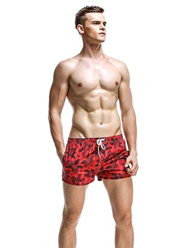 SEOBEAN Herren Badehose Badeshorts Board Shorts Strand Shorts 2840