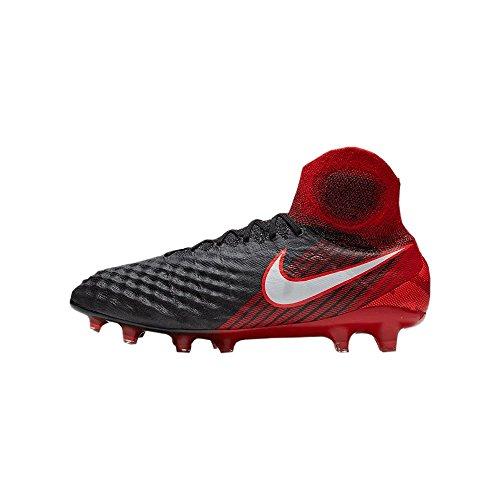 Nike Herren Magista Obra II DF FG Fußballschuhe schwarz/rot, 42.5 EU (Magista Schuhe Fußball Nike)