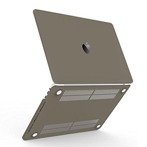"""iBenzer-Morbido Cover rigida in plastica per tutte le dimensioni di MacBook/MacBook Air 13.3/Air 11""""/Macbook Pro 13""""/Macbook Retina 13""""/15"""" Retina/Retina 12"""" grigio Gray New Macbook Pro 15"""" with Touch Bar (A1707)"""