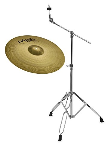 """Paiste 101 Brass 20"""" Ride Set (MS63 Messing, ausgewogener Klang, für jede Stilrichtung geeignet, inkl. Galgenbeckenständer)"""