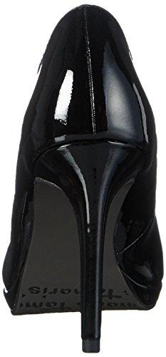 Tamaris 22448, Escarpins femme Noir - Schwarz (BLACK PATENT 018)