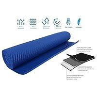 Strauss Yoga Mat 6mm, blue (Yogasana)