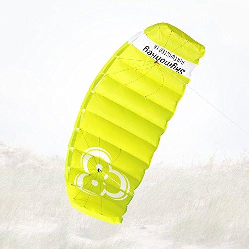 Skymonkey Airtwister 1.8 Lenkmatte mit Flugschlaufen Ready 2 Fly- 180 cm [grün-gelb]