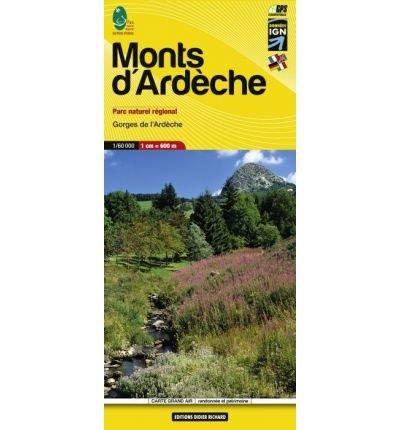 Libris Wanderkarte 11. Monts d'Ard?che 1 : 60 000: Gorges de l'Ard?che. Parc naturel r?gional. GPS compatible (?‰ditions Libris/Didier Richard) (Sheet map)(English / French / German / Italian) - Common