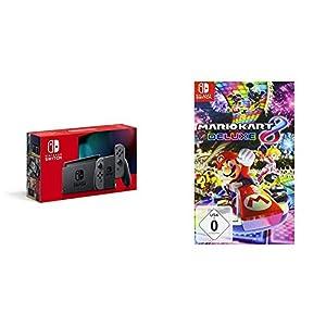 Nintendo Switch Konsole – Grau (Neue Edition) + Mario Kart 8 Deluxe [Nintendo Switch]