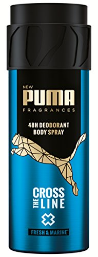 Puma Deodorant Body Spray ohne Aluminiumsalze: Cross The Line, 6er Pack (6 x 150 ml)