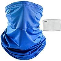 CLISPEED Ciclismo Cuello Polaina Cubierta Facial con Cubiertas Faciales Filtros Reemplazables Pañuelos de Pesca Verano Pasamontañas Protección UV Protección Bufanda Sombreros (Color Aleatorio)
