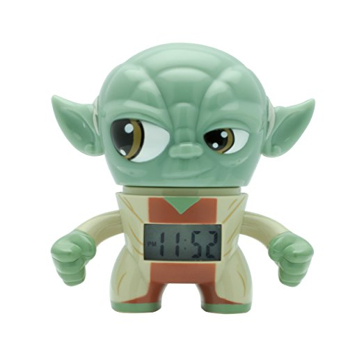Jazwares bulbbotz Star Wars Yoda Mini Despertador, 9 cm 2020206