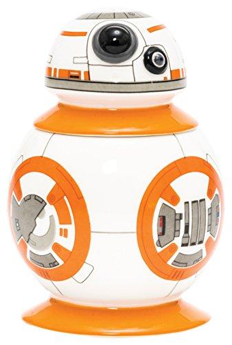 Star Wars 21657 - BB-8 Eierbecher mit Salzstreuer in Keramik - in Geschenkpackung, 8 x 8 x 10 cm