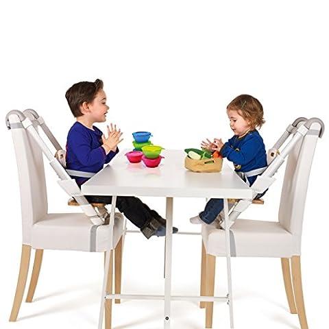 Siège rehausseur de table et repas de MYKKO - rehausseur de chaise - le MIO siège rehausseur avec châssis téléscopique pour une hauteur d'assise correcte