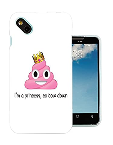 002415 - Emoji Smiley Faces Princess Poo Design Wiko Sunny / Wiko B-Kool Fashion Trend Protecteur Coque Gel Rubber Silicone protection Case