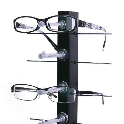 meyfdsyf Abnehmbare 6Paar Gläser Sonnenbrille Show Ständer Rack (schwarz)